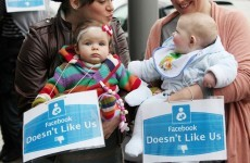Breastfeeding protest held outside Facebook HQ