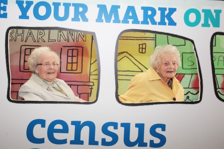 Pictured (L to R) Teresa Moran 100 and Dorothea Findlater at the Official launch of Census in 2016.