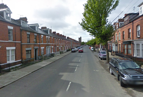 Castle Road in Dundalk, the street where Niall Dorr was assaulted.
