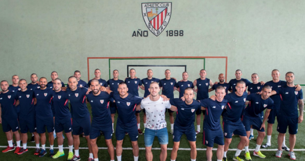 Entire Athletic Bilbao squad shave heads in support of team-mate