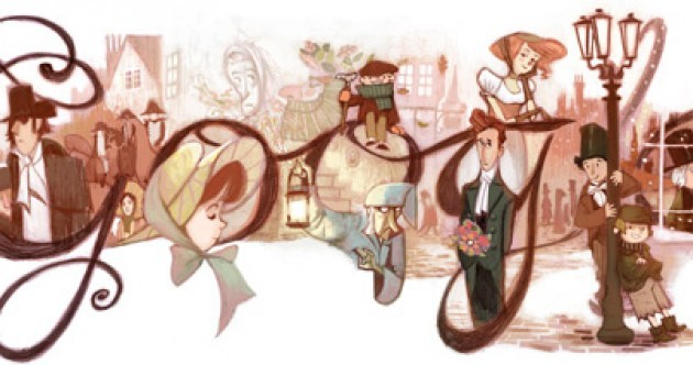 Google celebrates the 200th birthday of Charles Dickens