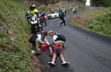 Watch: The horror crash that has ruled Richie Porte out of the Tour de France