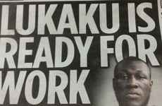 The Herald accidentally used a photo of Stormzy instead of Lukaku in the paper today