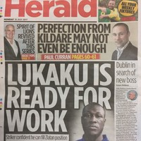 The Herald has apologised after mistaking Stormzy for Romelu Lukaku on its back page