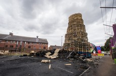 Sinn Féin member reports hate crime after election posters placed on bonfire