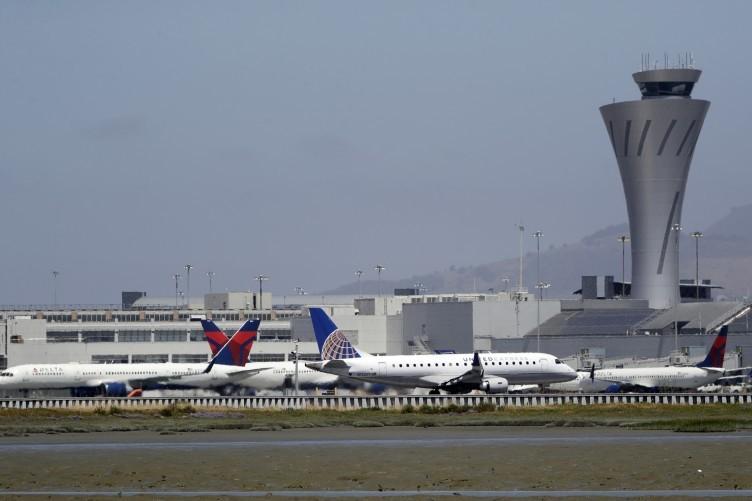 Planes departing at San Francisco International