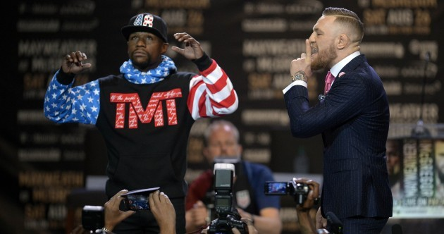 'You'll do nothing' - Conor McGregor and Floyd Mayweather begin trash talk tour with LA story
