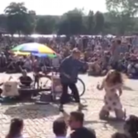 This Irish 'couple' made a holy show of themselves with a fake proposal at an outdoor karaoke event