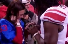 Here's a video of a Giants player proposing to his girlfriend on the field after the Super Bowl