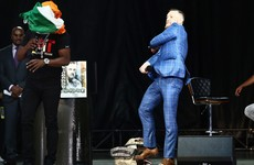 Bet your whole fight cheque! McGregor and Mayweather trade verbal blows in Toronto