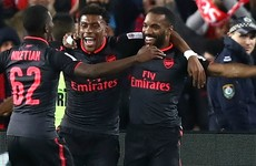 Arsenal's record signing Lacazette scores minutes into his debut