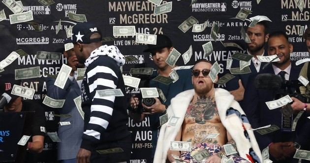 'I'm half-black' - Mayweather and McGregor take trash-talk tour to New York