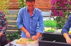 Donal Skehan chopped his finger open while cooking live on BBC One this morning