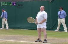 Irishman joins Wimbledon tennis match after offering advice to players from the stand
