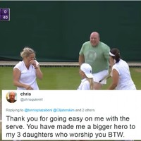 That Wicklow man at Wimbledon sent a lovely tweet to Kim Clijsters following their antics on court