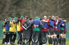 Back to the drawing board: Ireland squad train ahead of Paris trip