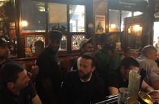 The Weeknd was spotted hanging out in The International Bar in Dublin over the weekend