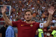 Totti opts to call time on glittering playing career to take up new role at Roma