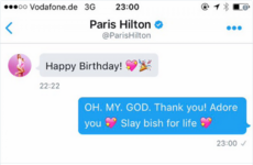Paris Hilton slid into James Kavanagh's DMs to wish him a happy birthday... it's The Dredge