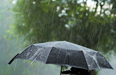 Yellow rainfall warning issued with thunder and localised flooding forecast