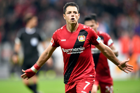 Bayer Leverkusen's Javier Hernandez.