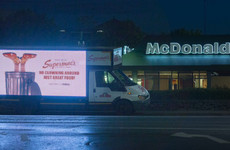 Supermac's has started parking these cheeky advertising trucks outside McDonald's around Ireland