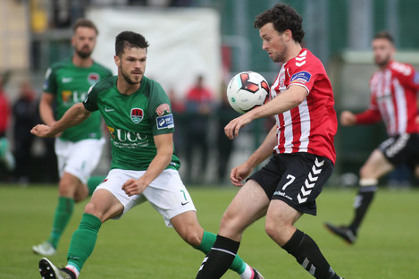 McNamee and Cork City's Jimmy Keohane.