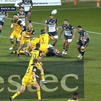 Jordie Barrett scores try after 'falcon' from prop Ben May