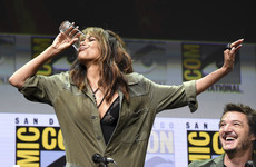 Here's Halle Berry chugging an entire pint of whiskey at Comic Con