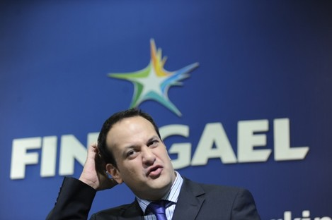 Leo Varadkar during the press conference in which he made his now infamous comments about Ireland's banks.