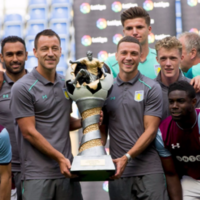 Aston Villa won, quite possibly, the ugliest football trophy ever seen on Sunday
