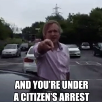 An ex-BBC producer tried to perform a citizen's arrest on an entire family and Twitter is having a field day