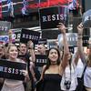 Hundreds protest in New York against ban on transgender troops