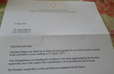 A woman chanced her arm by inviting Michael D to her wedding - and actually got a response