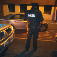 Four police officers injured after burglar uses two cars to smash through gates in Ballymena