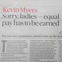 Sunday Times confirms Kevin Myers won't write for them again after offensive equal pay column