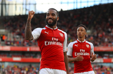 Goalscorer Lacazette limped off as Arsenal were defeated by Seville in the Emirates Cup today