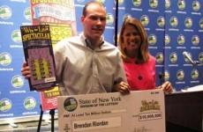 Irish emigrant, 28, wins $10m (minimum) on New York scratchcard