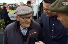 A 96-year-old Irishman was interviewed after his horse won at the Galway Races and it will make your day