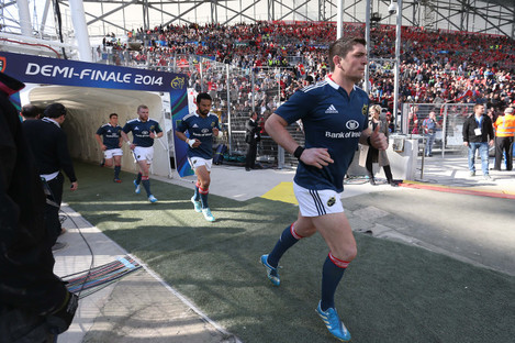 Downey runs out for the Heineken Cup semi-final against Toulon.