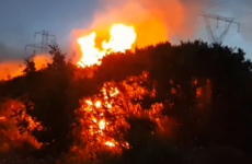 Watch: Dublin Fire Brigade battling a large gorse fire in the mountains last night