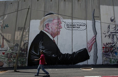 Two huge 'Banksy-like' Trump murals appear on West Bank barrier