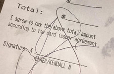 A bar shamed Kendall Jenner for not leaving a tip by posting her receipt on Instagram