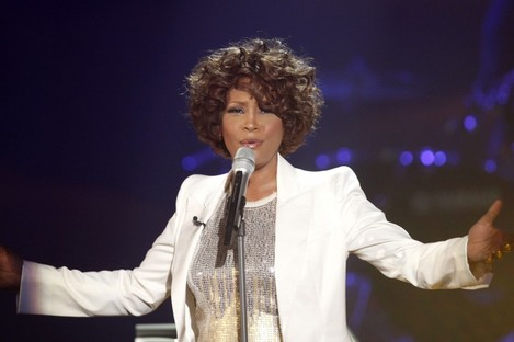 Whitney Houston performing in Germany in 2009. Houston died in Los Angeles yesterday, aged 48.