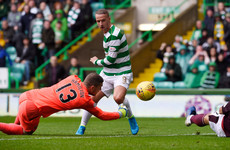 Griffiths at the double as Celtic begin new season by routing Hearts