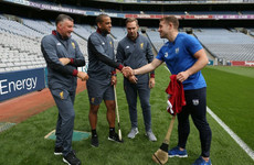 Three of Liverpool's former Irish stars given hurling masterclass at Croke Park