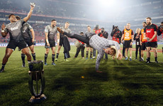 Crusaders coach Scott Robertson led the Super Rugby celebrations by breakdancing