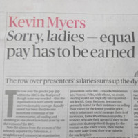 Sunday Times 'deeply sorry' for publishing controversial Kevin Myers column