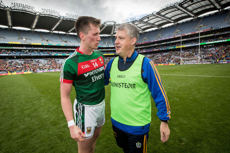 Kevin McStay and Cillian O'Connor after today's match.