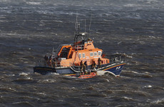 RNLI rescues 10 people after the mast broke off their racing yacht early this morning